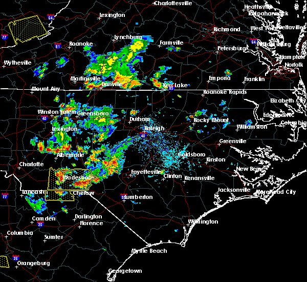 Radar Image for Severe Thunderstorms near Ansonville, NC at 7/18/2017 6:44 PM EDT