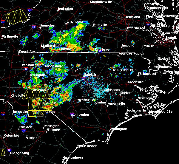 Radar Image for Severe Thunderstorms near Norwood, NC at 7/18/2017 6:52 PM EDT