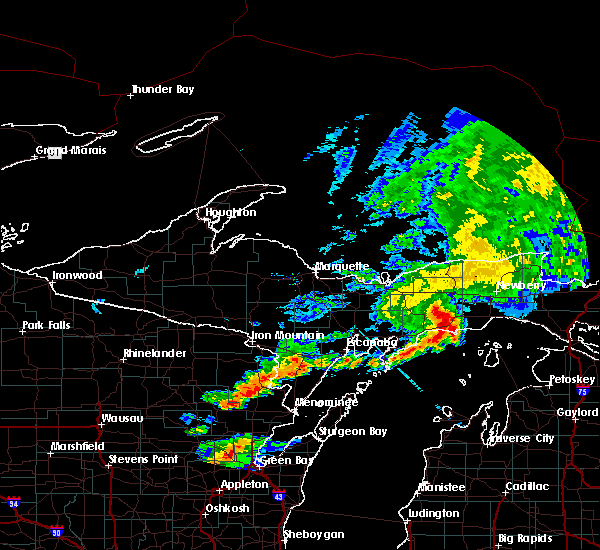 Radar Image for Severe Thunderstorms near Manistique, MI at 7/18/2017 6:58 PM EDT