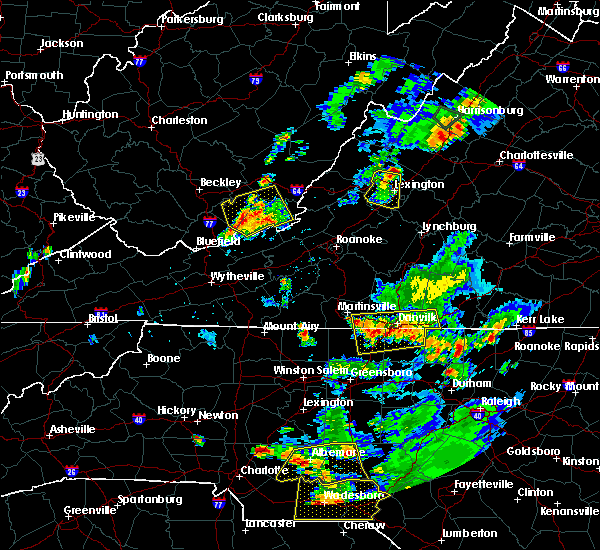 Radar Image for Severe Thunderstorms near Eden, NC at 7/18/2017 7:24 PM EDT