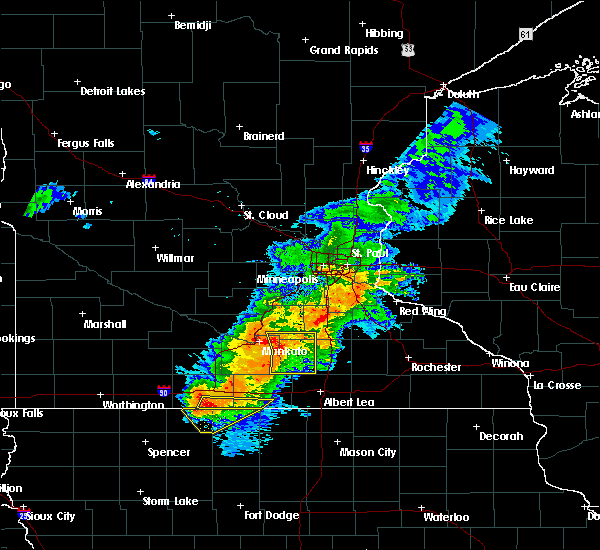 Radar Image for Severe Thunderstorms near Fairmont, MN at 7/19/2017 3:53 PM CDT