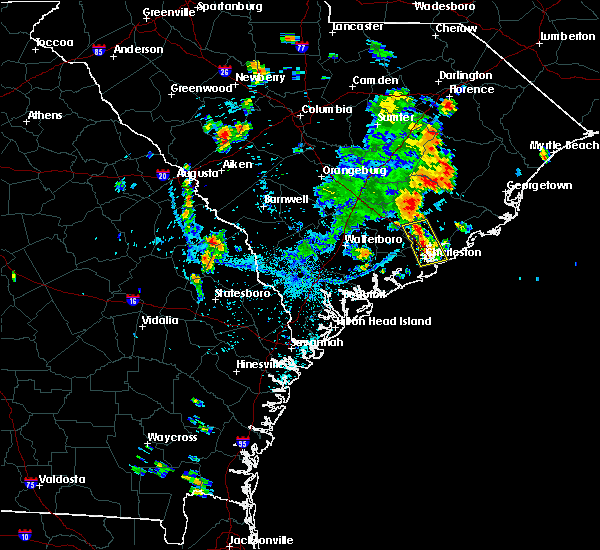 Radar Image for Severe Thunderstorms near North Charleston, SC at 7/19/2017 5:01 PM EDT