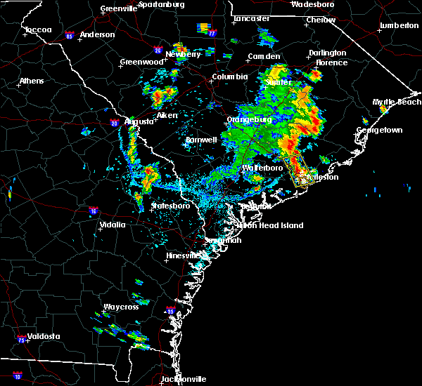 Radar Image for Severe Thunderstorms near North Charleston, SC at 7/19/2017 5:08 PM EDT