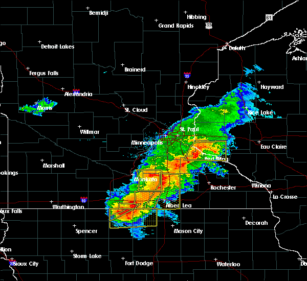 Radar Image for Severe Thunderstorms near Frost, MN at 7/19/2017 4:16 PM CDT