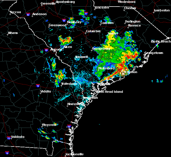 Radar Image for Severe Thunderstorms near North Charleston, SC at 7/19/2017 5:35 PM EDT