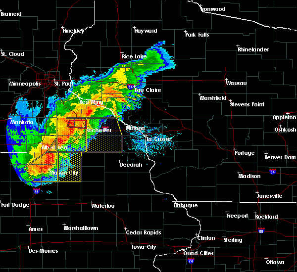 Radar Image for Severe Thunderstorms near Fountain, MN at 7/19/2017 4:54 PM CDT