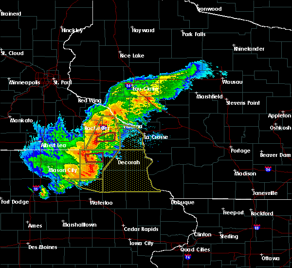 Radar Image for Severe Thunderstorms near Fountain, MN at 7/19/2017 5:34 PM CDT