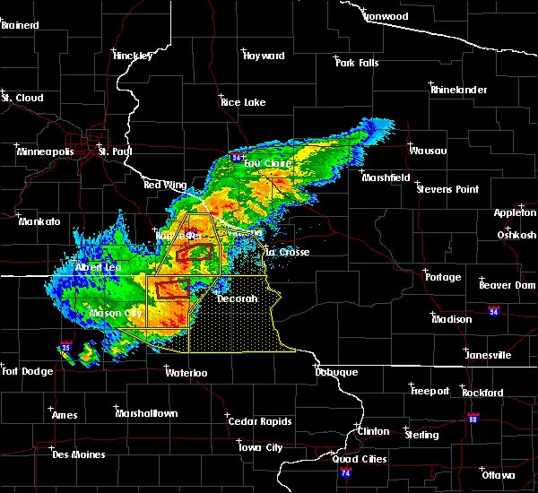Radar Image for Severe Thunderstorms near Fountain, MN at 7/19/2017 5:37 PM CDT