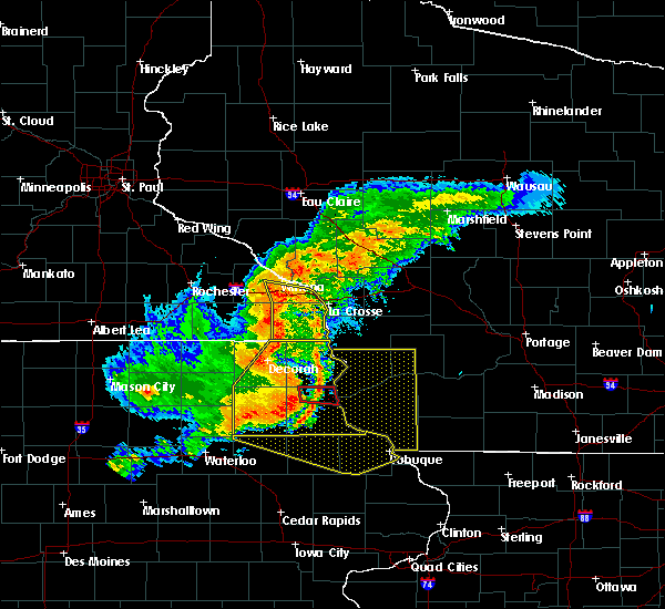 Radar Image for Severe Thunderstorms near Bell Center, WI at 7/19/2017 6:06 PM CDT