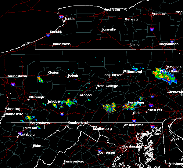 Radar Image for Severe Thunderstorms near Shippensburg, PA at 7/19/2017 7:36 PM EDT