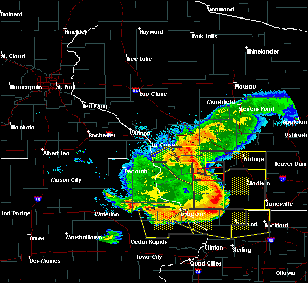 Radar Image for Severe Thunderstorms near Bell Center, WI at 7/19/2017 7:27 PM CDT