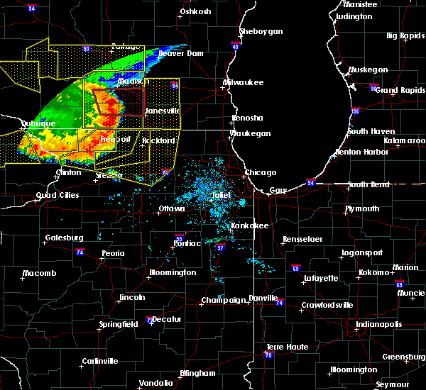 Radar Image for Severe Thunderstorms near Monroe Center, IL at 7/19/2017 7:57 PM CDT