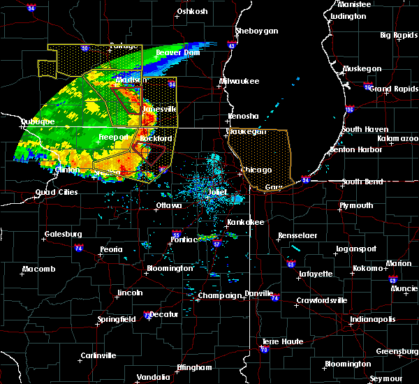 Radar Image for Severe Thunderstorms near Monroe Center, IL at 7/19/2017 8:29 PM CDT