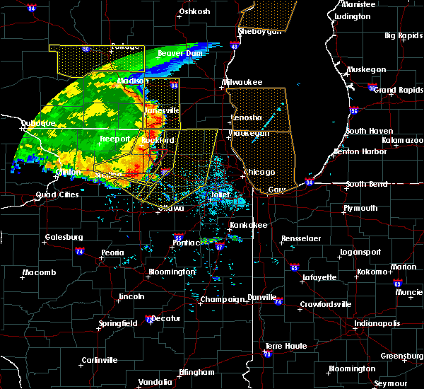 Radar Image for Severe Thunderstorms near Round Lake, IL at 7/19/2017 8:38 PM CDT