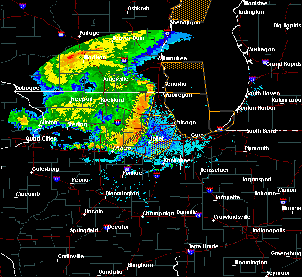 Radar Image for Severe Thunderstorms near Lockport, IL at 7/19/2017 9:26 PM CDT