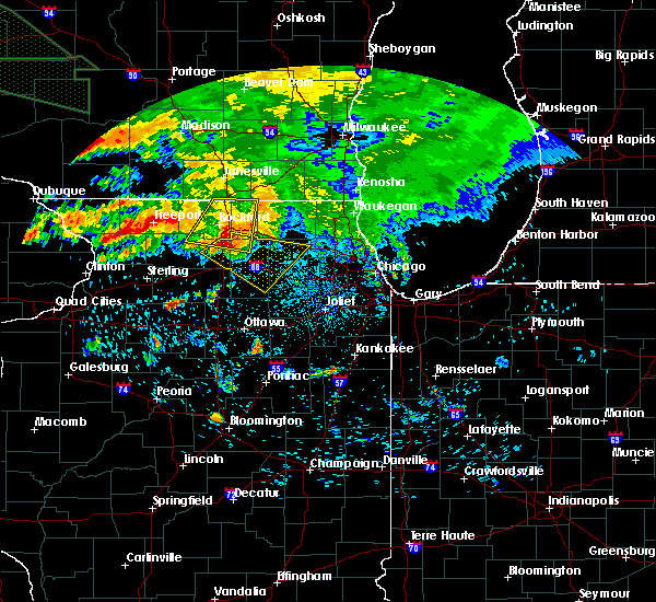 Radar Image for Severe Thunderstorms near Elgin, IL at 7/20/2017 4:25 AM CDT