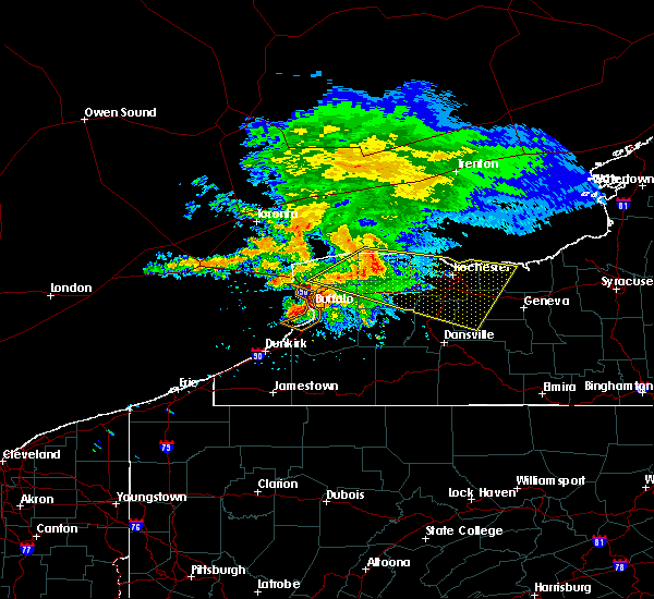 Radar Image for Severe Thunderstorms near Fairport, NY at 7/20/2017 12:24 PM EDT
