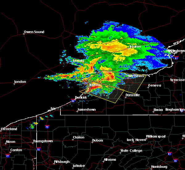 Radar Image for Severe Thunderstorms near Houghton, NY at 7/20/2017 12:36 PM EDT