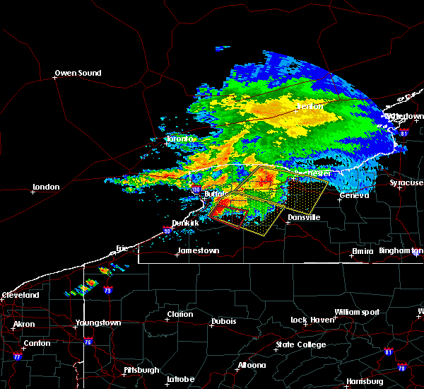 Radar Image for Severe Thunderstorms near Fairport, NY at 7/20/2017 12:51 PM EDT