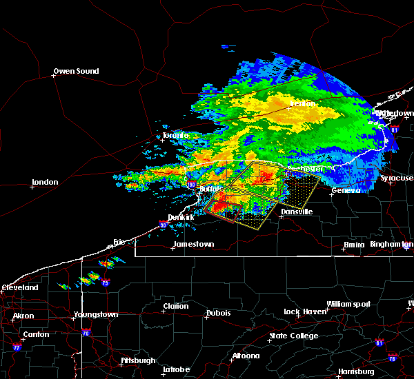 Radar Image for Severe Thunderstorms near Castile, NY at 7/20/2017 12:54 PM EDT