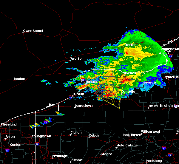 Radar Image for Severe Thunderstorms near Wyoming, NY at 7/20/2017 1:27 PM EDT