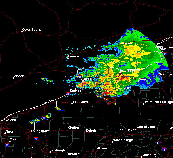 Radar Image for Severe Thunderstorms near Belfast, NY at 7/20/2017 1:39 PM EDT