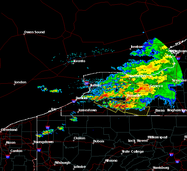 Radar Image for Severe Thunderstorms near Belfast, NY at 7/20/2017 2:10 PM EDT