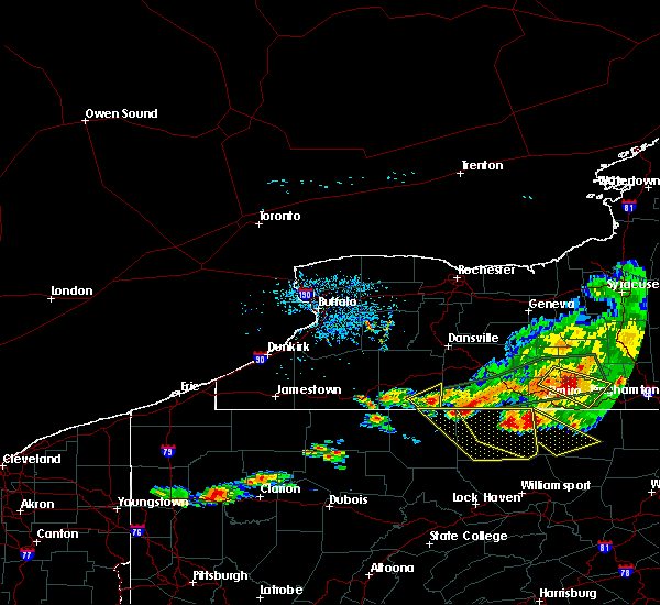 Radar Image for Severe Thunderstorms near Wellsville, NY at 7/20/2017 3:38 PM EDT