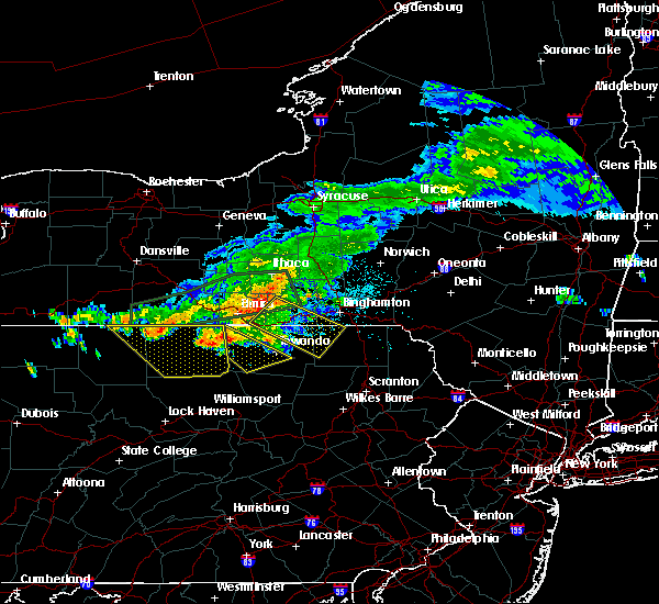 Radar Image for Severe Thunderstorms near Endicott, NY at 7/20/2017 3:47 PM EDT