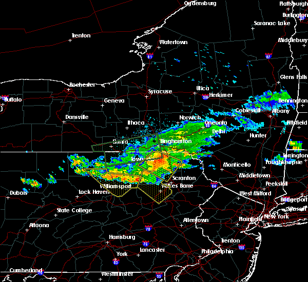 Radar Image for Severe Thunderstorms near Sugar Notch, PA at 7/20/2017 4:52 PM EDT