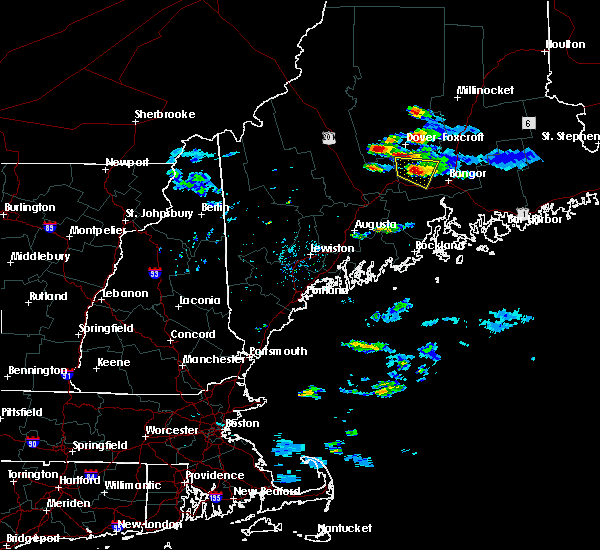Radar Image for Severe Thunderstorms near Dexter, ME at 7/20/2017 7:32 PM EDT