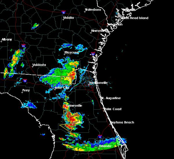 Radar Image for Severe Thunderstorms near Ocala, FL at 7/20/2017 7:36 PM EDT