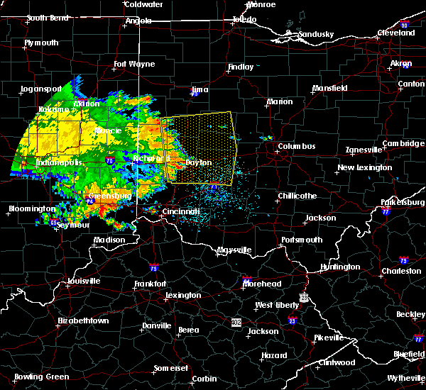 Radar Image for Severe Thunderstorms near St. Paris, OH at 7/21/2017 7:33 AM EDT