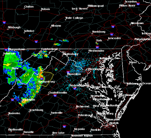 Radar Image for Severe Thunderstorms near Harrisonburg, VA at 7/21/2017 3:21 PM EDT