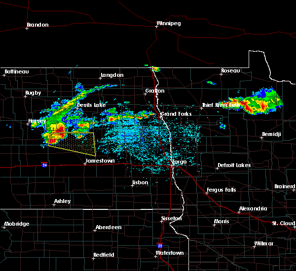 Radar Image for Severe Thunderstorms near McHenry, ND at 7/21/2017 2:49 PM CDT