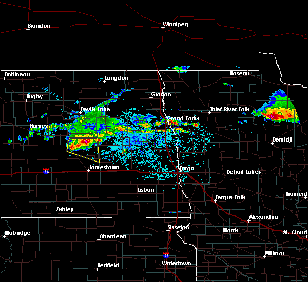 Radar Image for Severe Thunderstorms near McHenry, ND at 7/21/2017 3:22 PM CDT