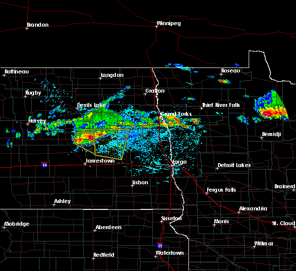 Radar Image for Severe Thunderstorms near McHenry, ND at 7/21/2017 3:34 PM CDT