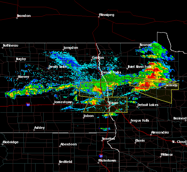 Radar Image for Severe Thunderstorms near Glyndon, MN at 7/21/2017 4:54 PM CDT