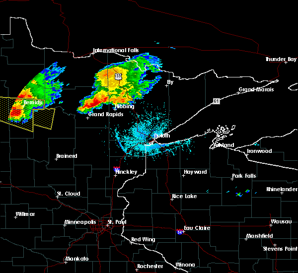 Radar Image for Severe Thunderstorms near Cass Lake, MN at 7/21/2017 5:28 PM CDT