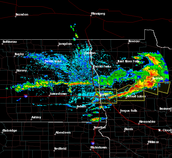 Radar Image for Severe Thunderstorms near Lake Park, MN at 7/21/2017 5:34 PM CDT
