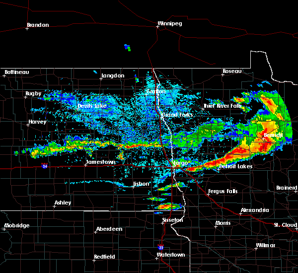Radar Image for Severe Thunderstorms near Bemidji, MN at 7/21/2017 5:37 PM CDT