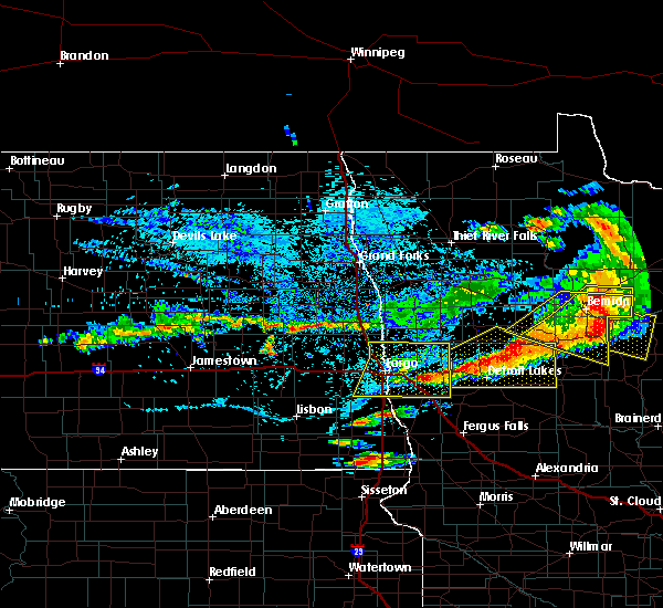 Radar Image for Severe Thunderstorms near Laporte, MN at 7/21/2017 5:47 PM CDT