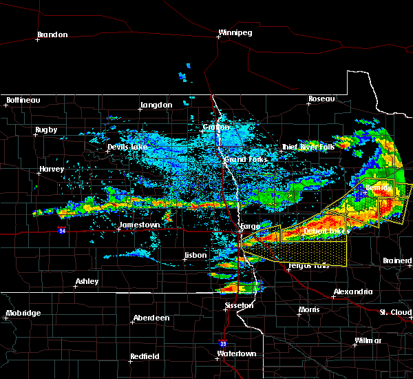 Radar Image for Severe Thunderstorms near Lake Park, MN at 7/21/2017 6:00 PM CDT