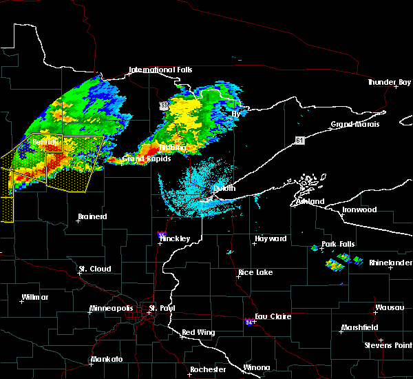Radar Image for Severe Thunderstorms near Cass Lake, MN at 7/21/2017 6:02 PM CDT