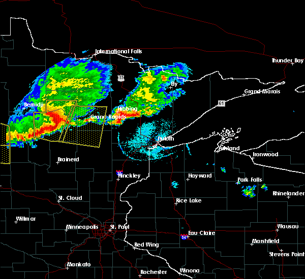 Radar Image for Severe Thunderstorms near Grand Rapids, MN at 7/21/2017 6:24 PM CDT