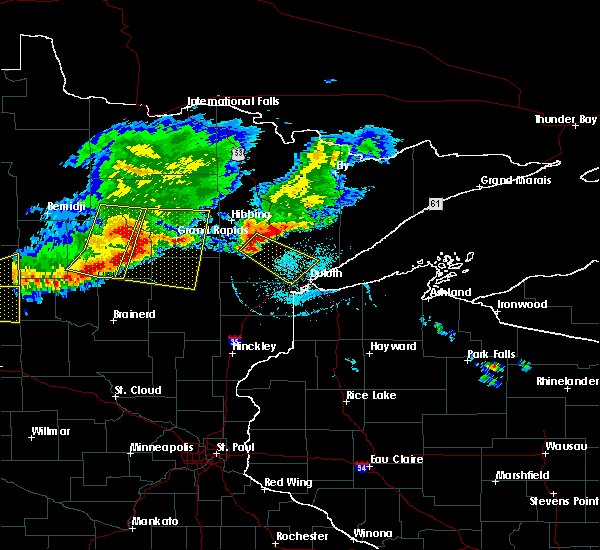 Radar Image for Severe Thunderstorms near Duluth, MN at 7/21/2017 6:37 PM CDT