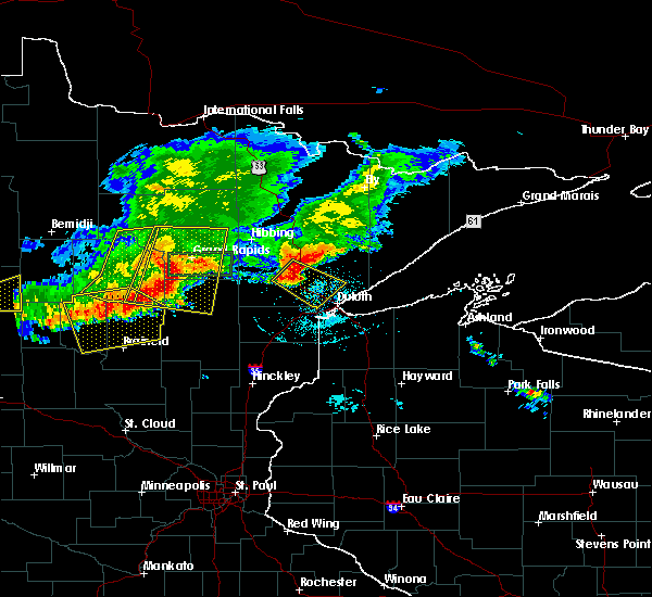 Radar Image for Severe Thunderstorms near Merrifield, MN at 7/21/2017 6:55 PM CDT