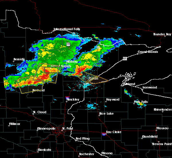 Radar Image for Severe Thunderstorms near Cohasset, MN at 7/21/2017 7:05 PM CDT