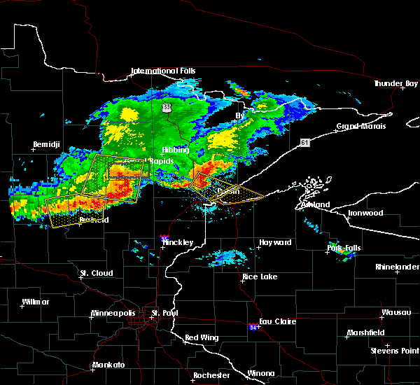 Radar Image for Severe Thunderstorms near Cuyuna, MN at 7/21/2017 7:07 PM CDT