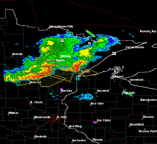Radar Image for Severe Thunderstorms near Duluth, MN at 7/21/2017 7:17 PM CDT